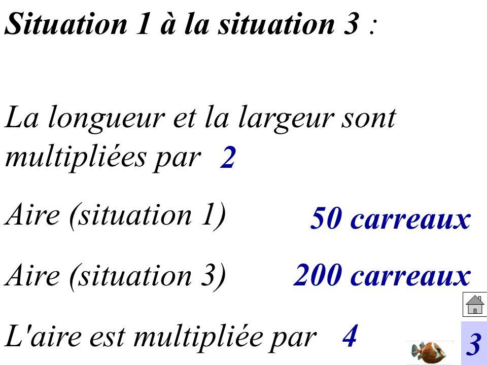 Situation 1 à la situation 3 :