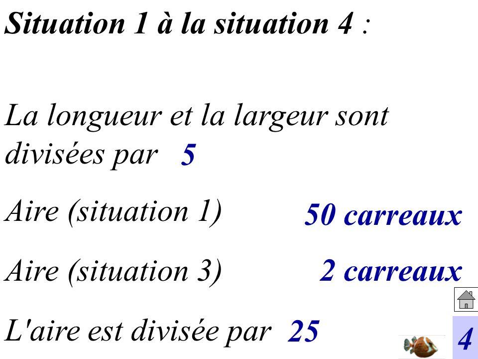 Situation 1 à la situation 4 :
