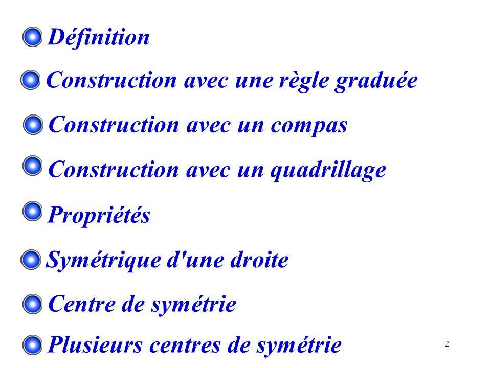 Construction avec une règle graduée