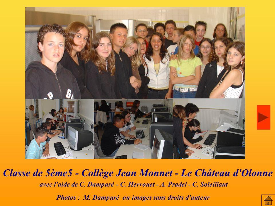 Classe de 5ème5 - Collège Jean Monnet - Le Château d Olonne