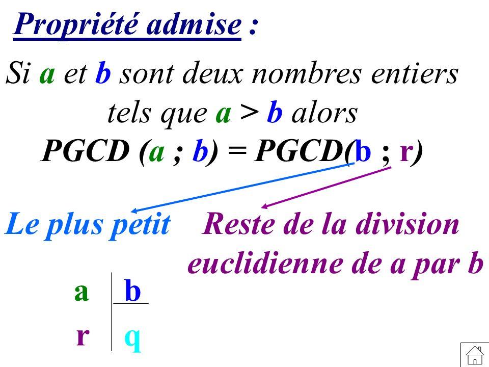 Si a et b sont deux nombres entiers