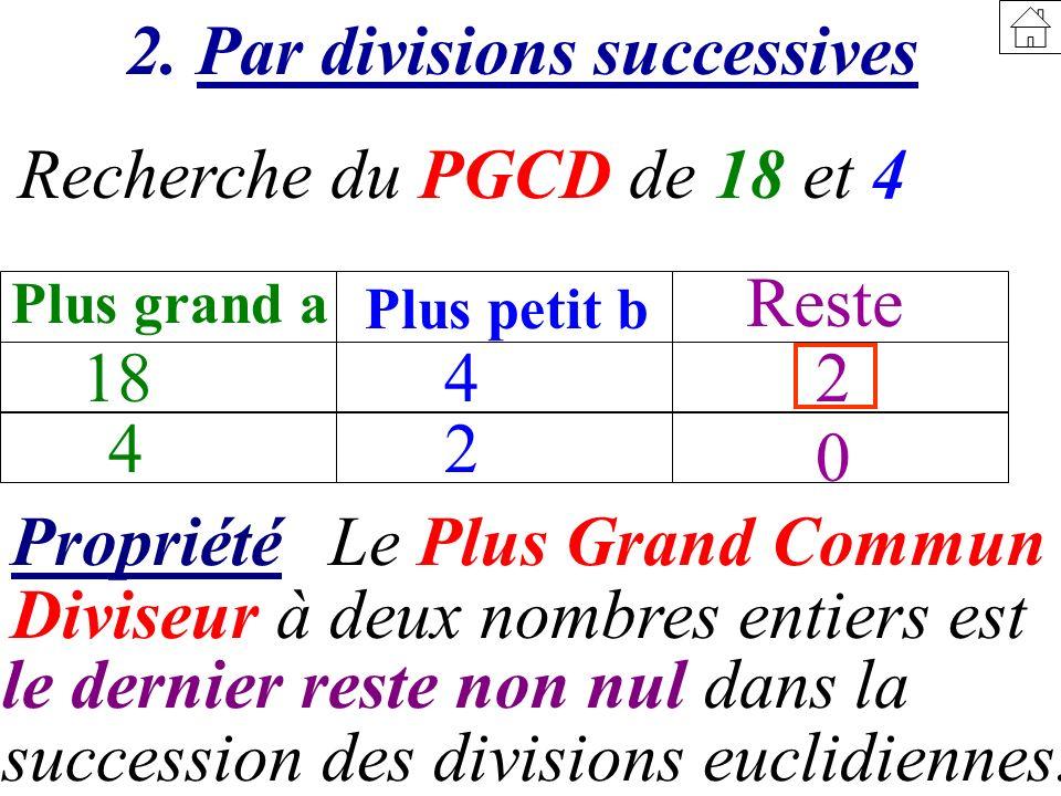 2. Par divisions successives