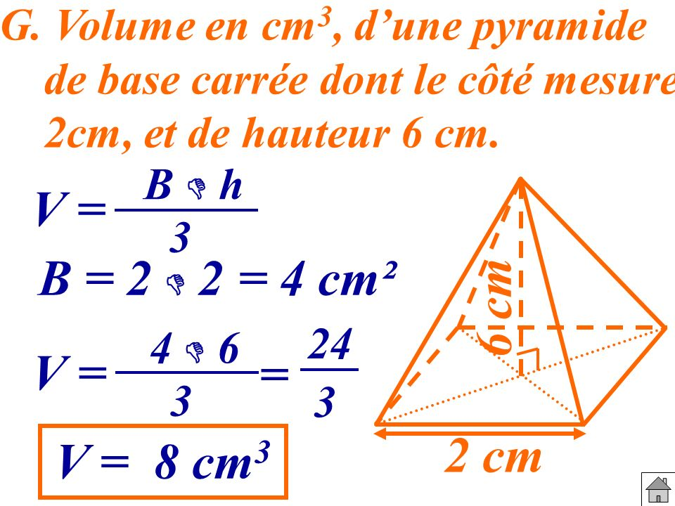 base and cm3 12 cm3 the 3 stands for 'cubed' an easy way to remember this symbol is to think  3 means length x  volume of a prism = area of base x height • area of base.