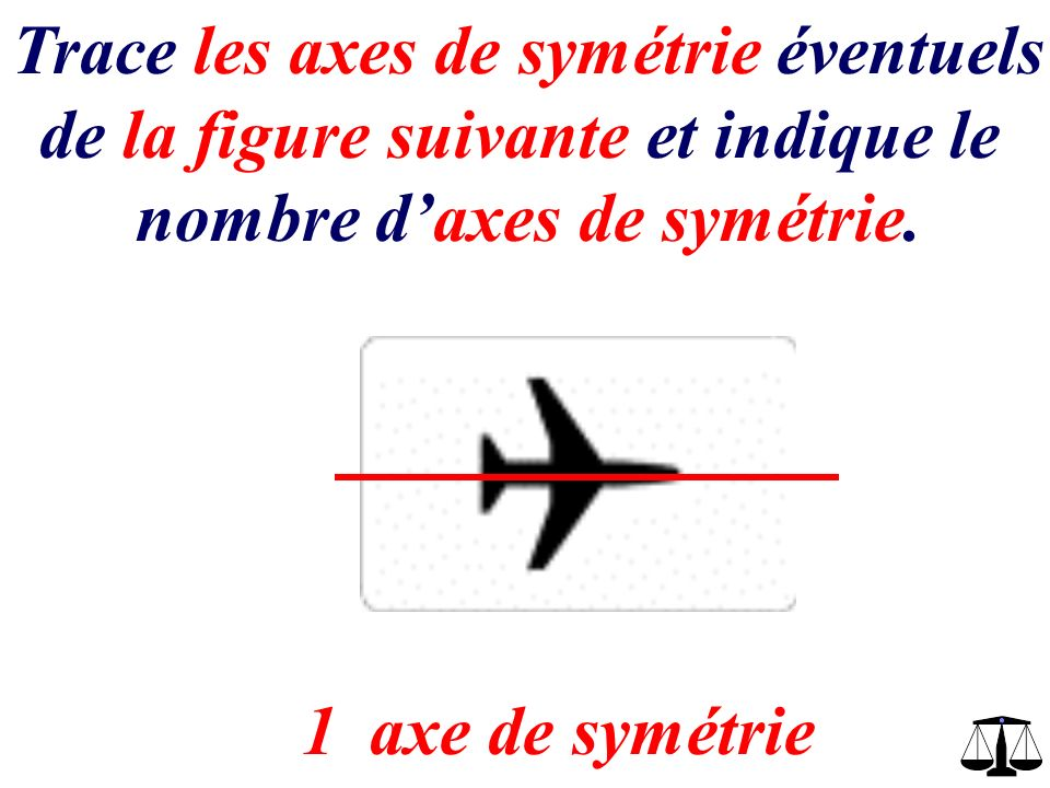 Trace les axes de symétrie éventuels