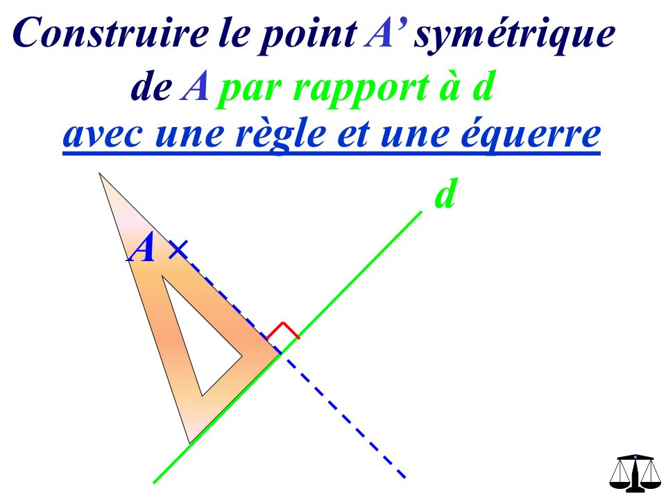 Construire le point A' symétrique