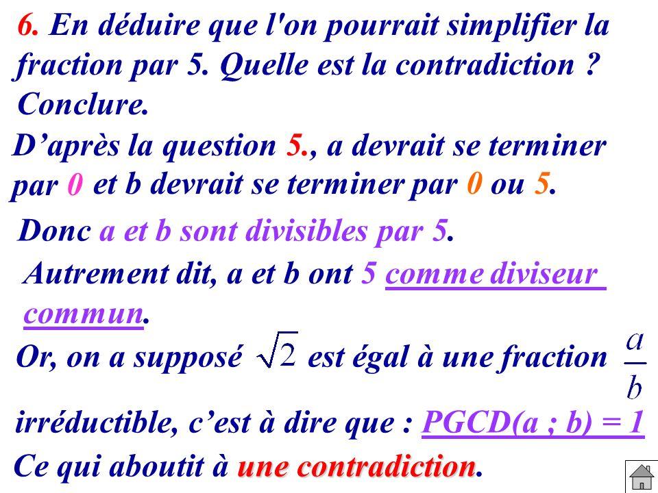 6. En déduire que l on pourrait simplifier la