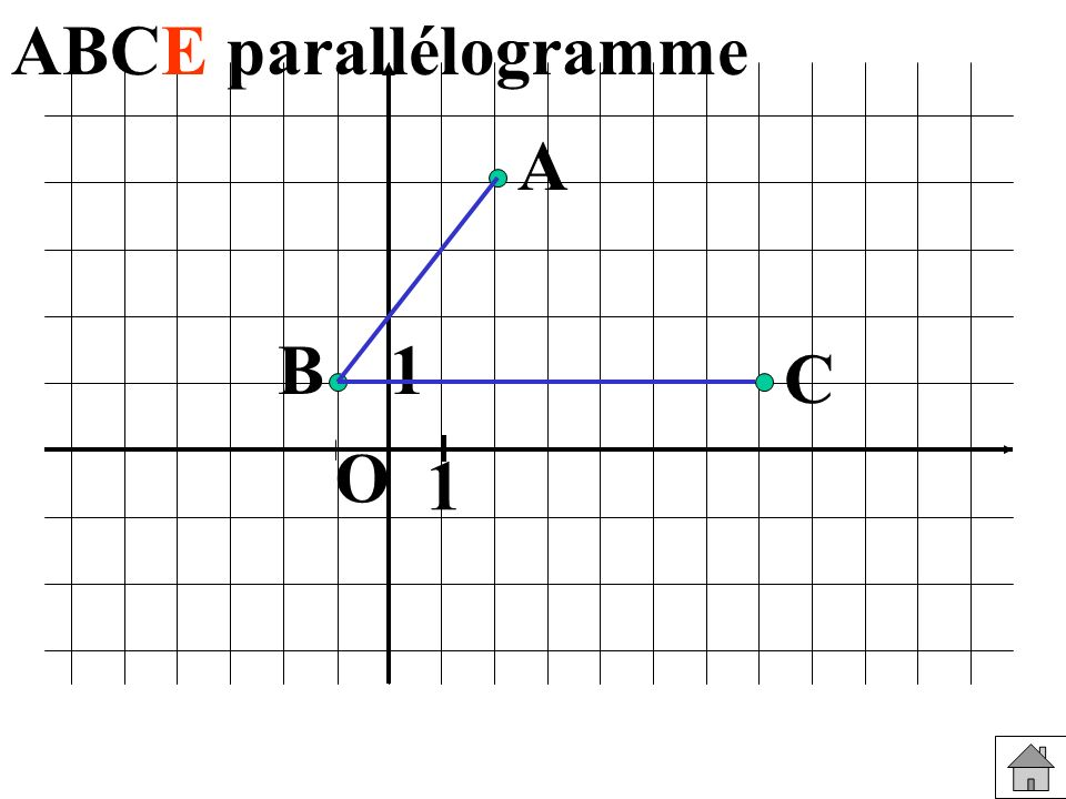 ABCE parallélogramme A B 1 C O 1