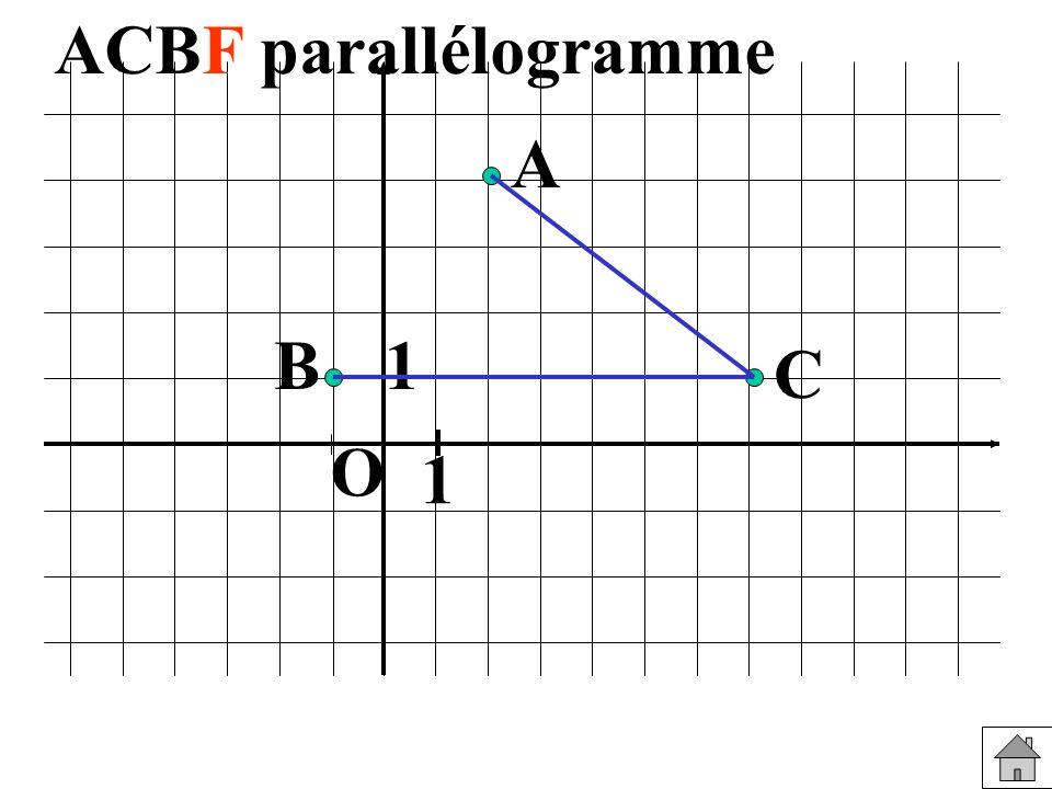 ACBF parallélogramme A B 1 C O 1