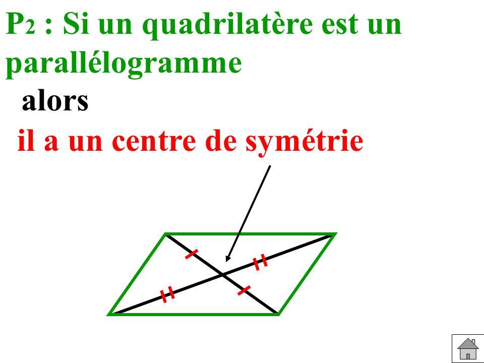 P2 : Si un quadrilatère est un parallélogramme