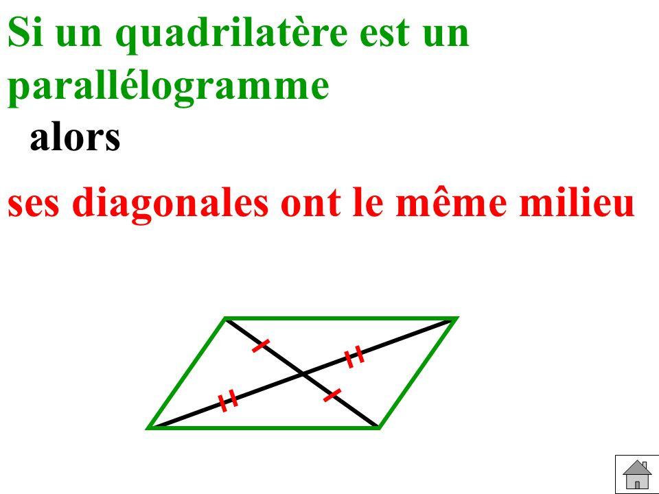 Si un quadrilatère est un parallélogramme
