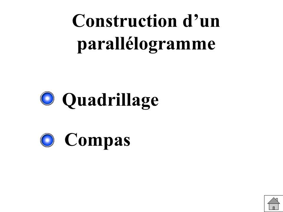 Construction d'un parallélogramme