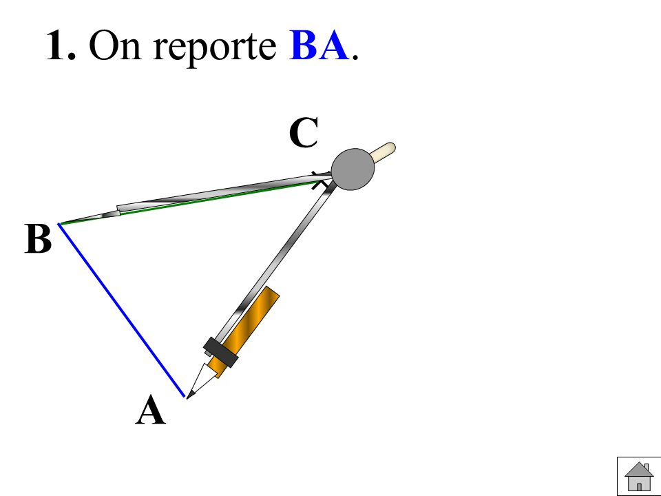 1. On reporte BA. C  B A