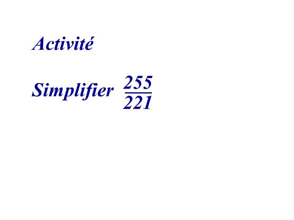Activité 255 221 Simplifier