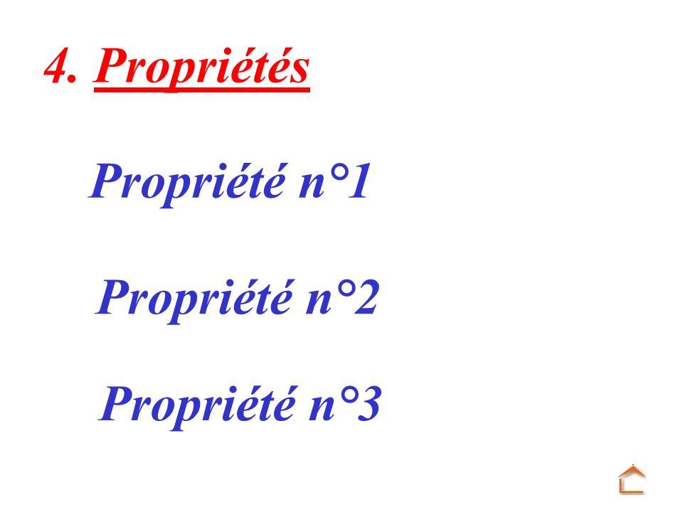 4. Propriétés Propriété n°1 Propriété n°2 Propriété n°3