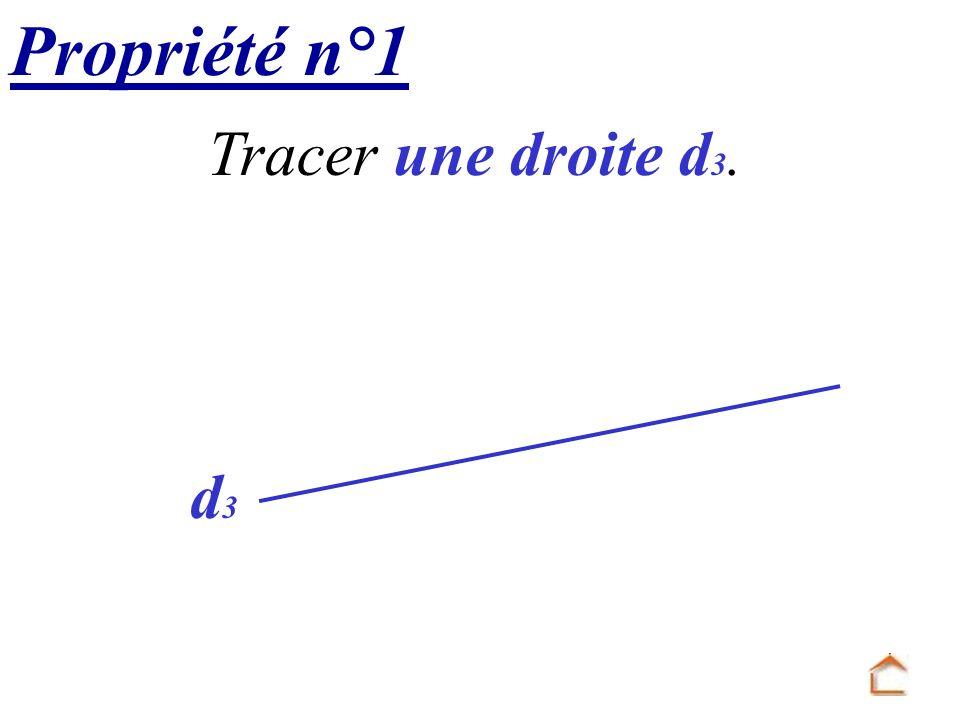 Propriété n°1 Tracer une droite d3. d3