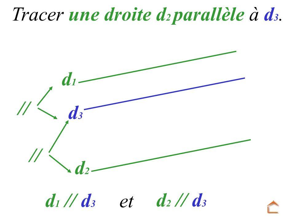 Tracer une droite d2 parallèle à d3.