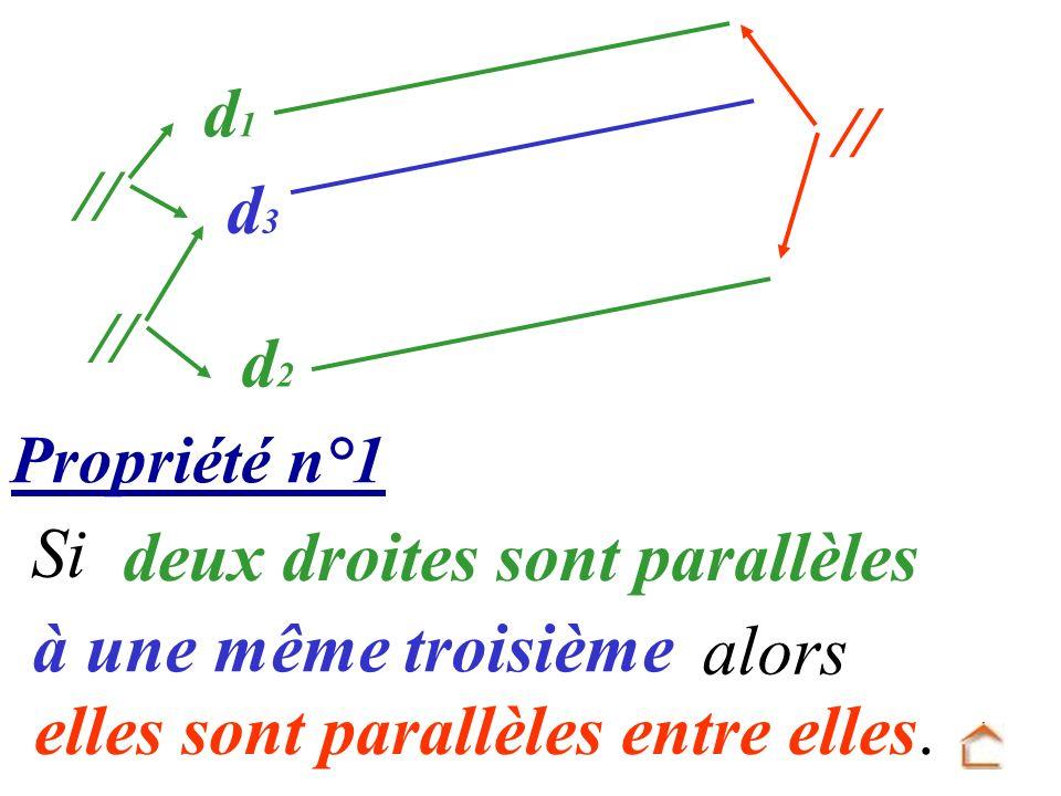 deux droites sont parallèles à une même troisième alors