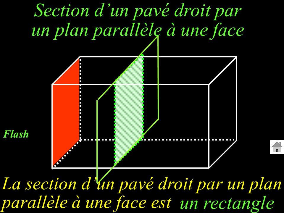 Section d'un pavé droit par un plan parallèle à une face