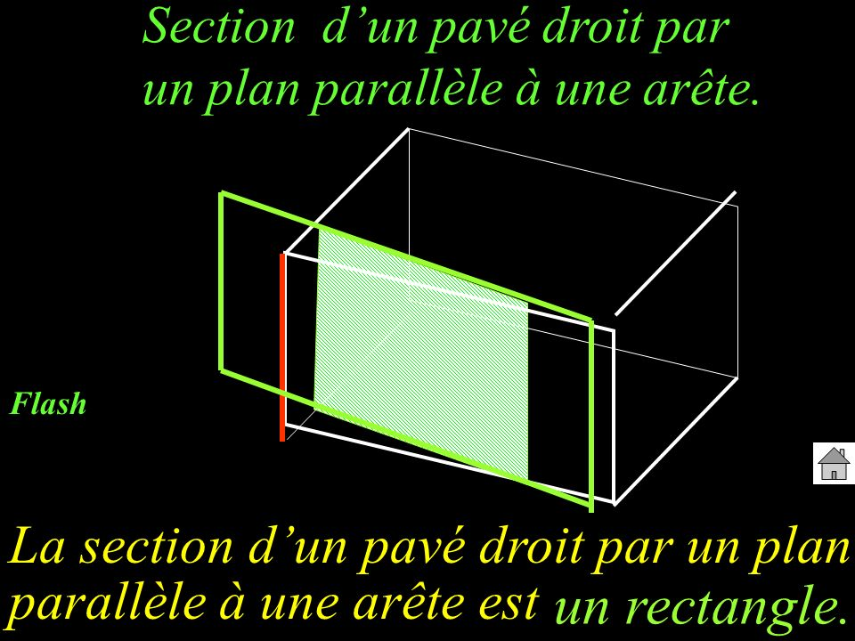un rectangle. La section d'un pavé droit par un plan