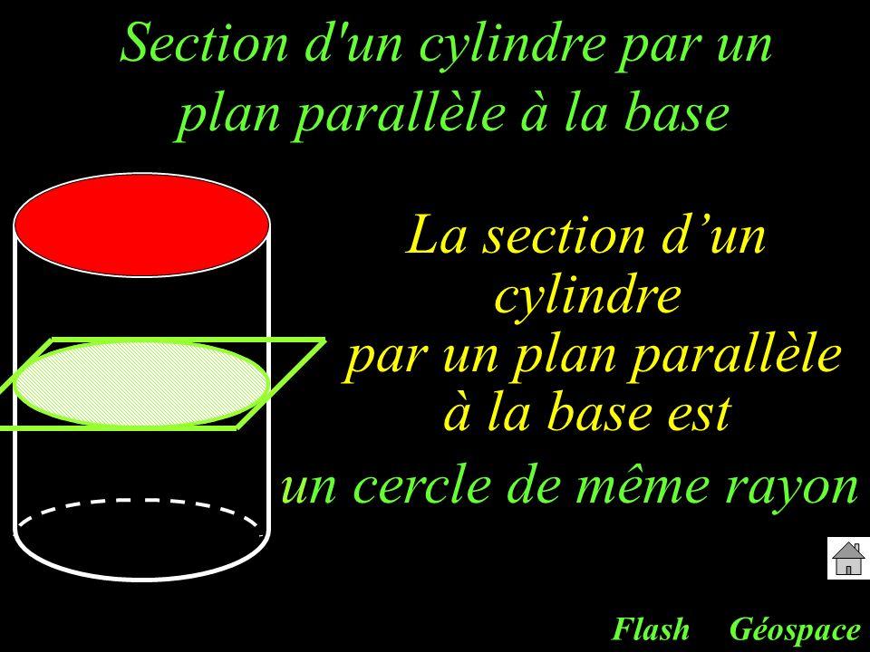 Section d un cylindre par un plan parallèle à la base