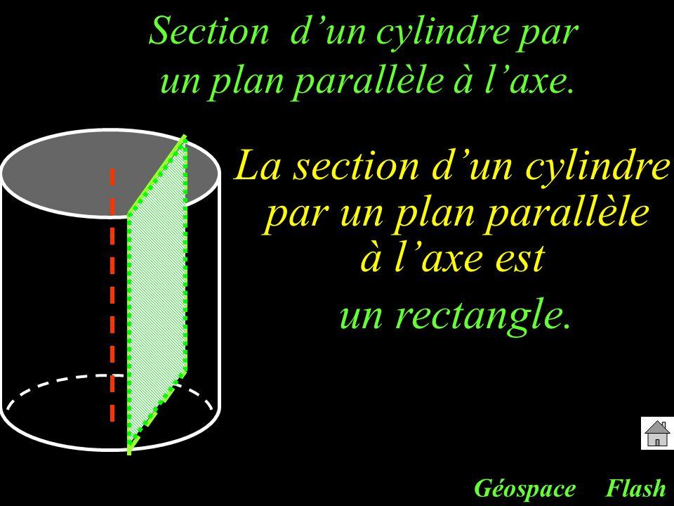La section d'un cylindre par un plan parallèle à l'axe est