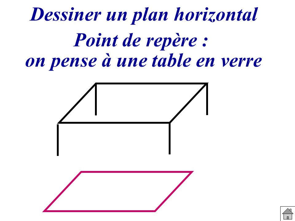 on pense à une table en verre