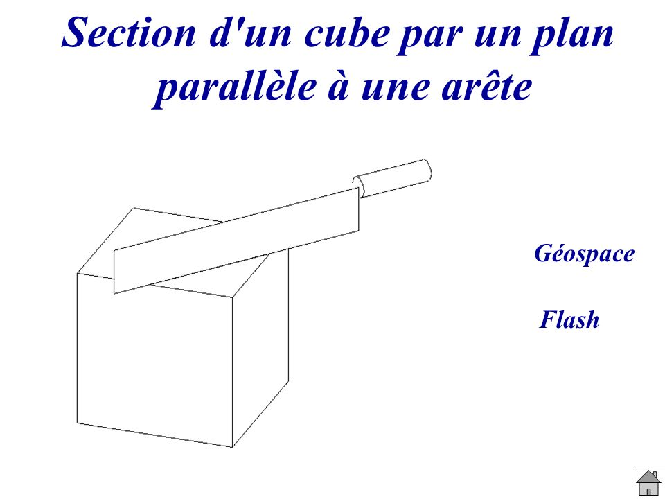 Section d un cube par un plan