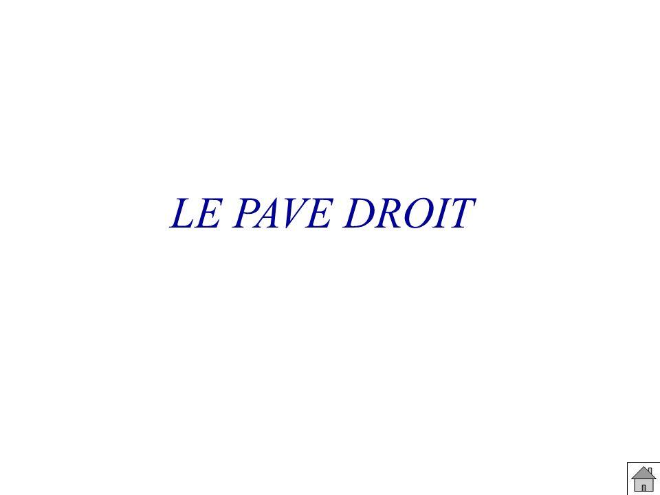 LE PAVE DROIT
