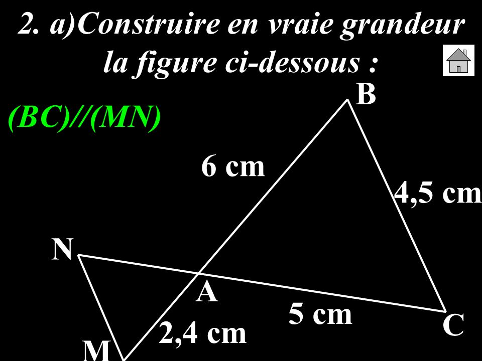 2. a)Construire en vraie grandeur la figure ci-dessous :
