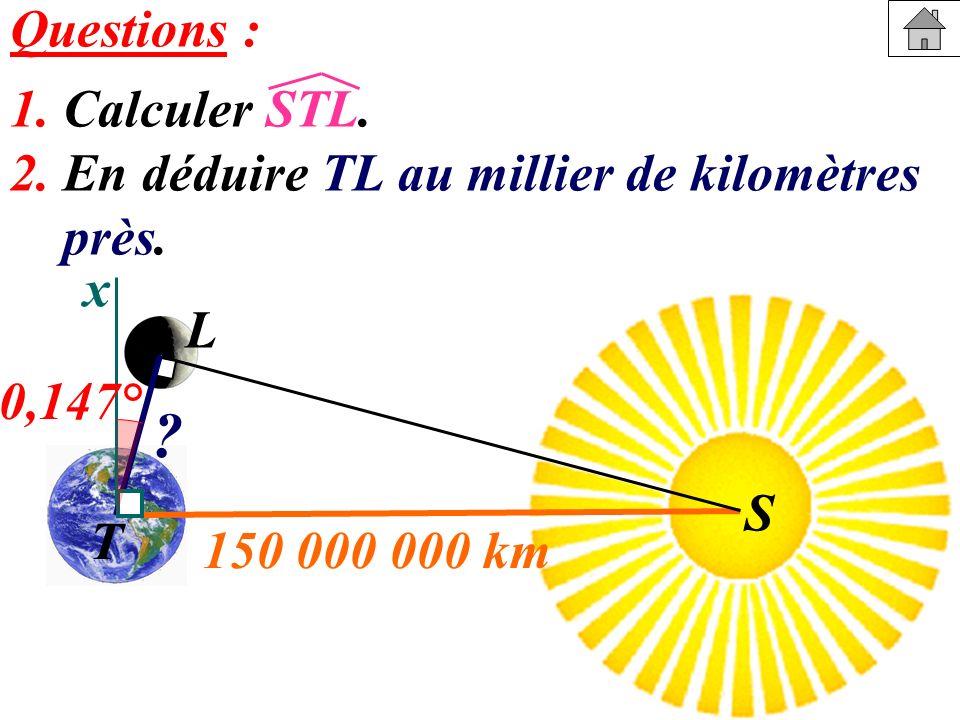 Questions : 1. Calculer STL.