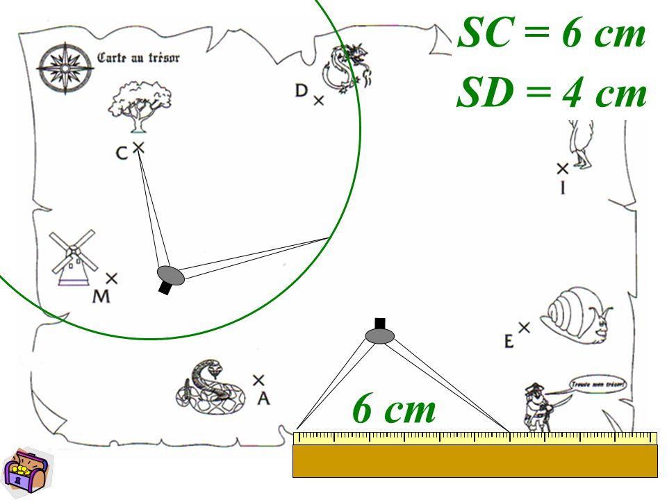 SC = 6 cm SD = 4 cm 6 cm