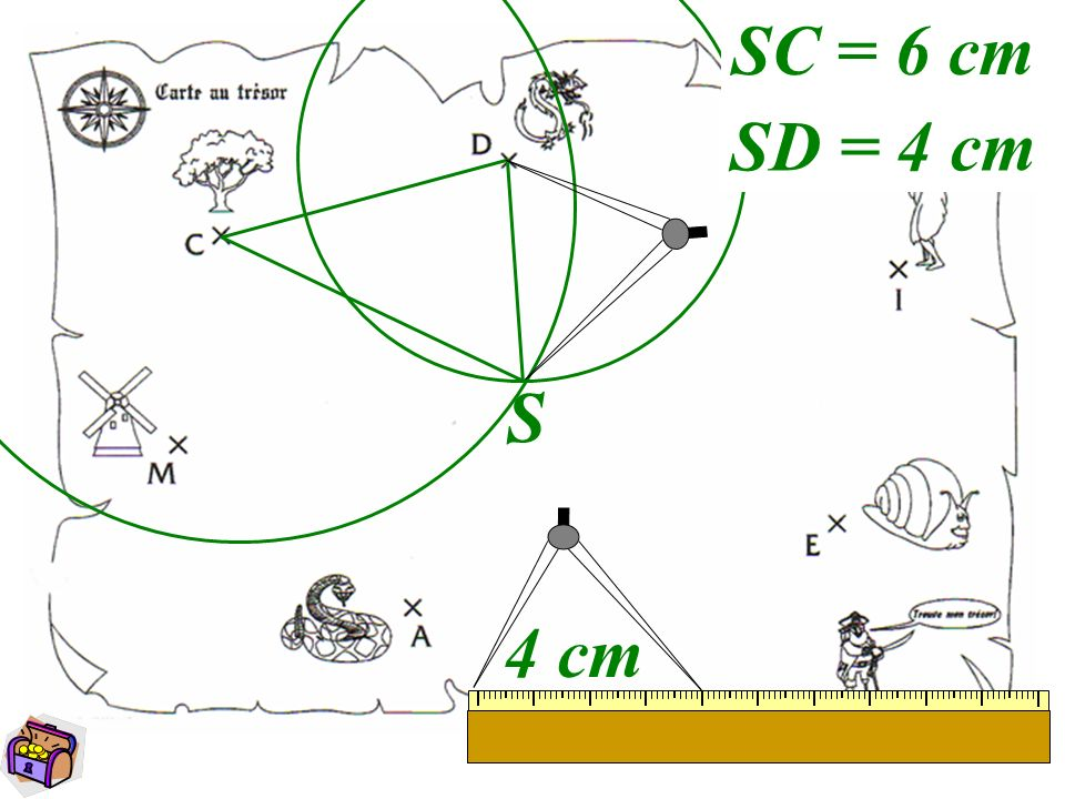 SC = 6 cm SD = 4 cm S 4 cm