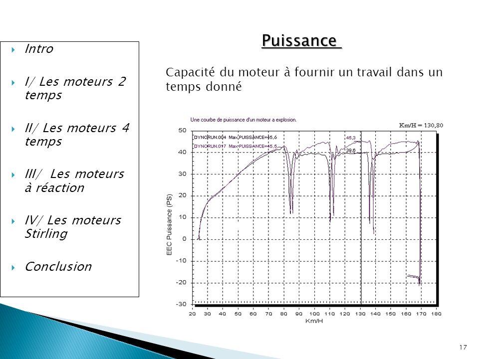 Puissance Intro I/ Les moteurs 2 temps II/ Les moteurs 4 temps