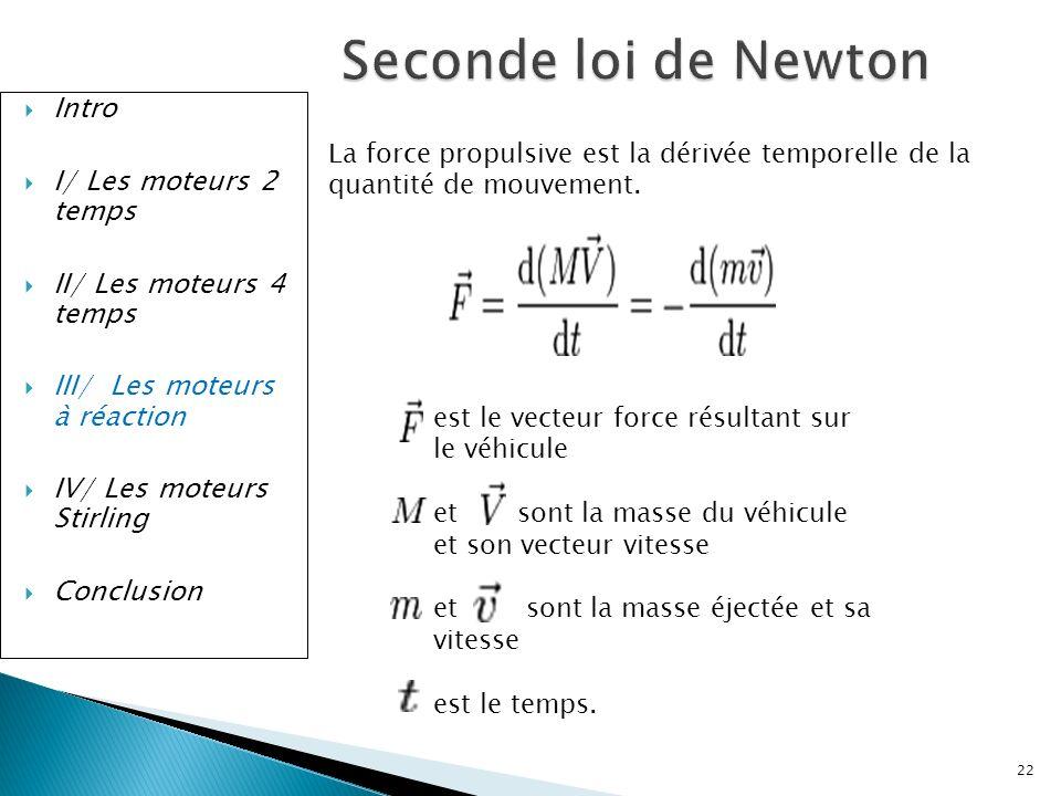 Seconde loi de Newton Intro I/ Les moteurs 2 temps