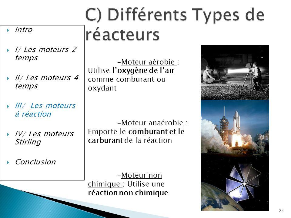 C) Différents Types de réacteurs