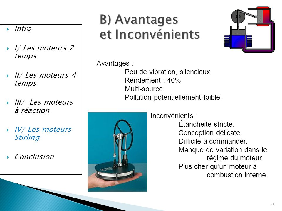 B) Avantages et Inconvénients