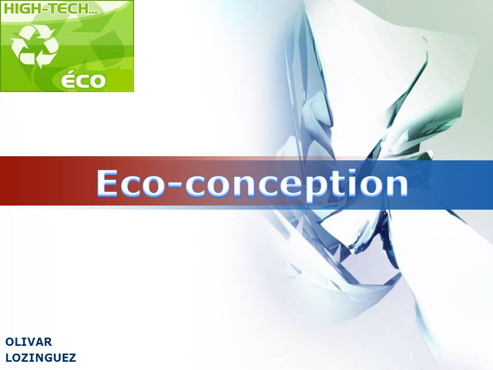 Eco-conception OLIVAR LOZINGUEZ