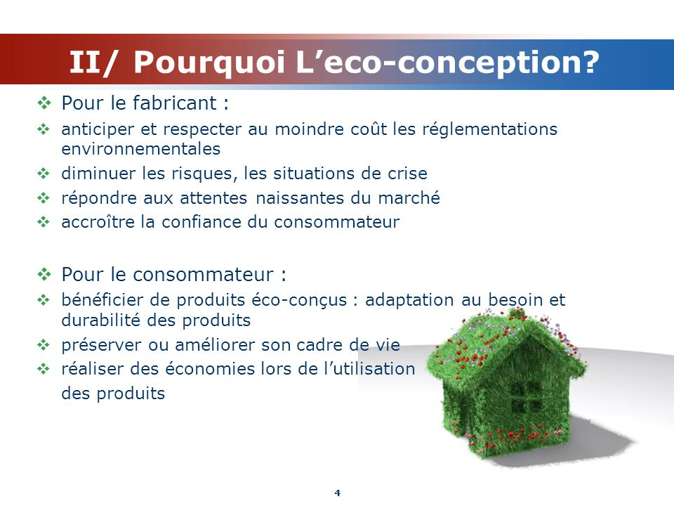 II/ Pourquoi L'eco-conception