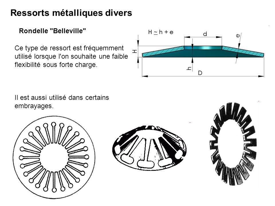 Ressorts métalliques divers