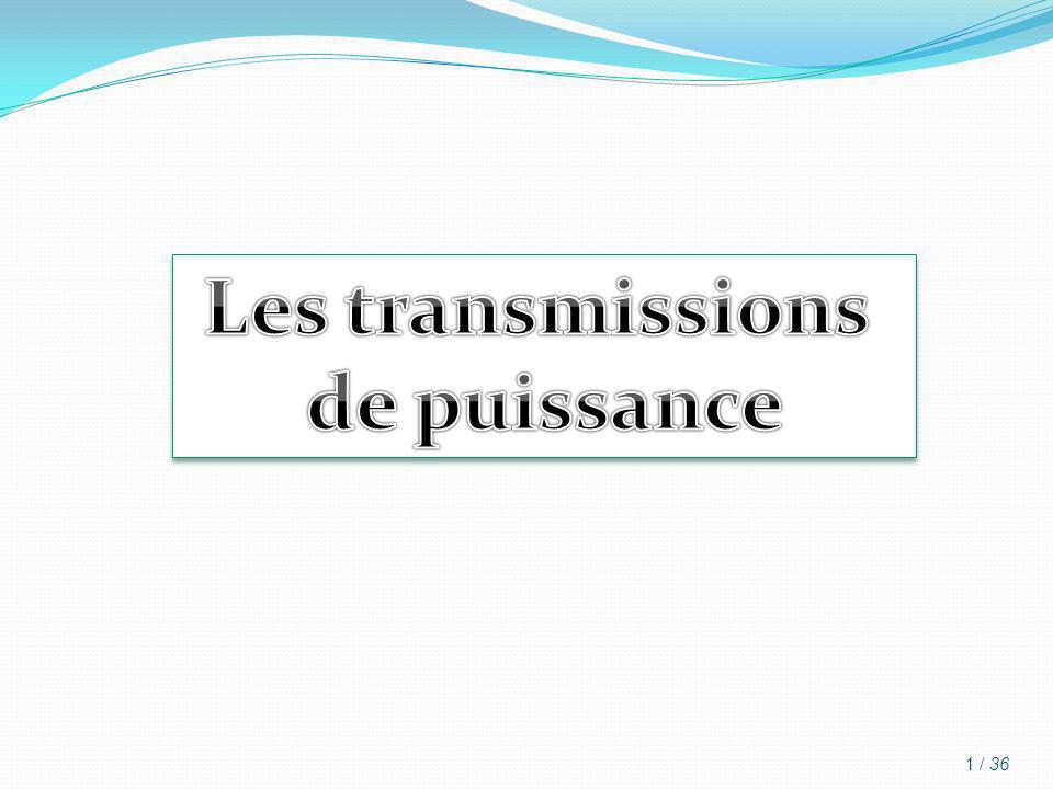 Les transmissions de puissance