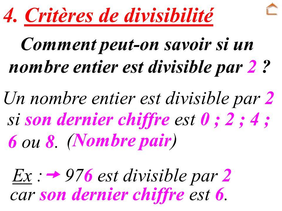Comment peut-on savoir si un nombre entier est divisible par 2