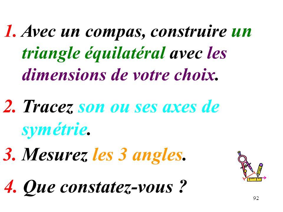 2. Tracez son ou ses axes de symétrie.