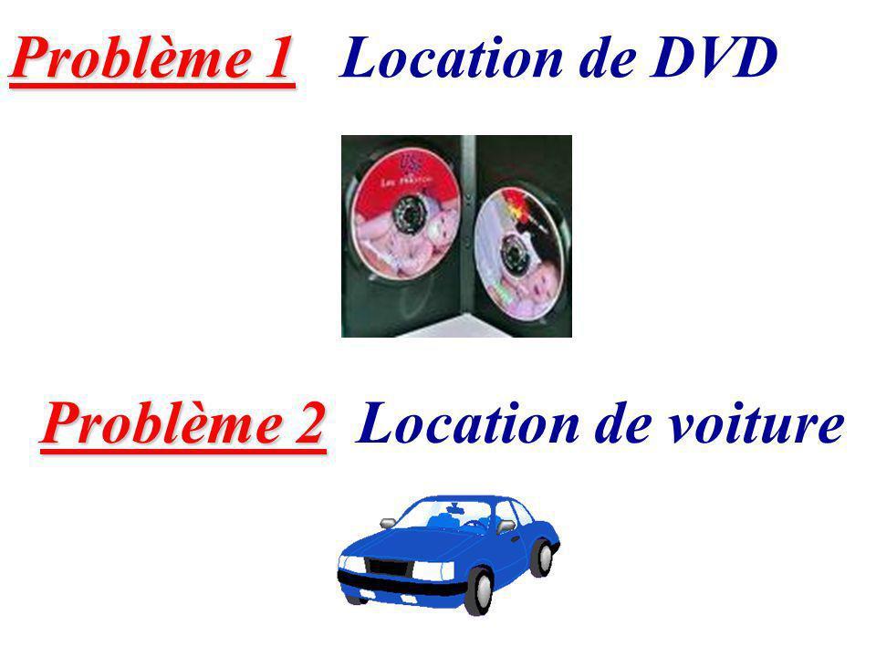 Problème 1 Location de DVD