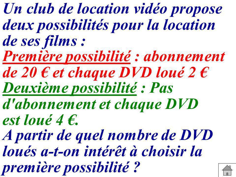 Un club de location vidéo propose