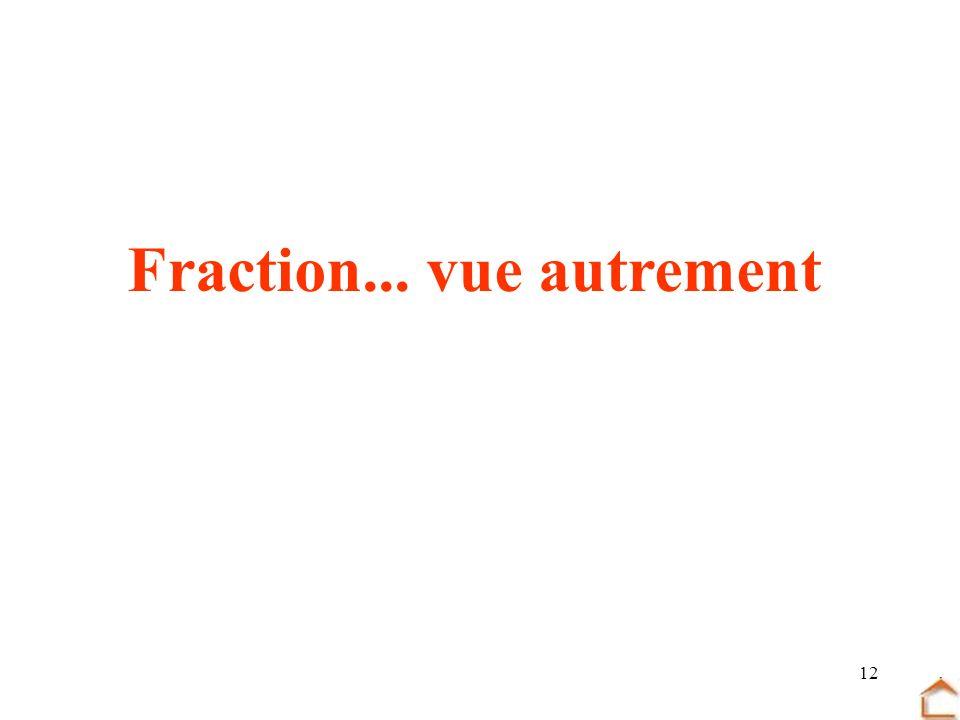 Fraction... vue autrement