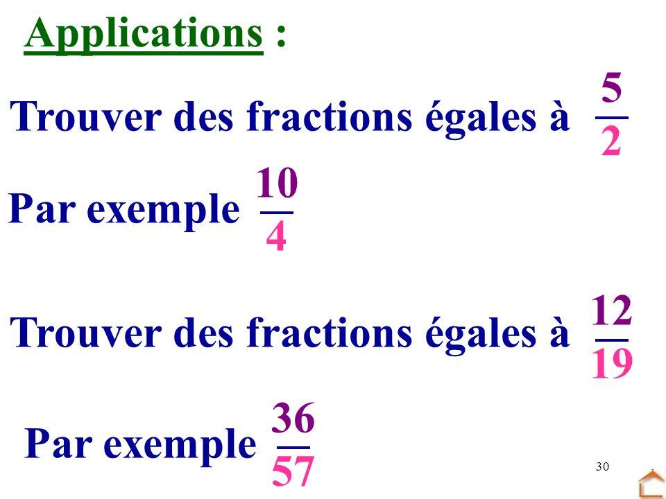 Trouver des fractions égales à Trouver des fractions égales à