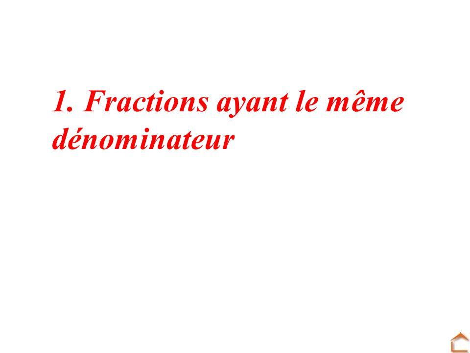 1. Fractions ayant le même
