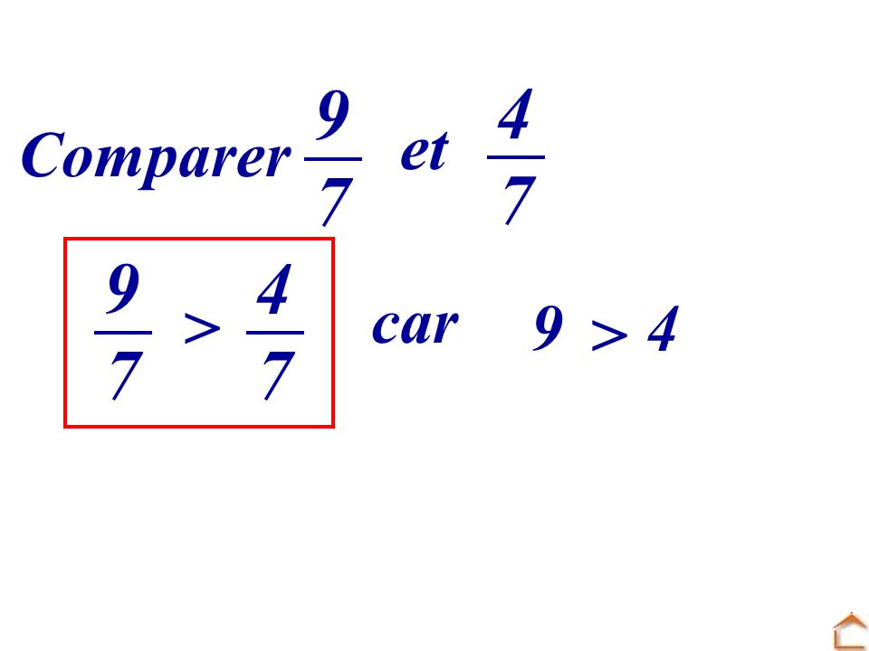 9 7 4 7 et Comparer 9 7 4 7 car > 9 4 >