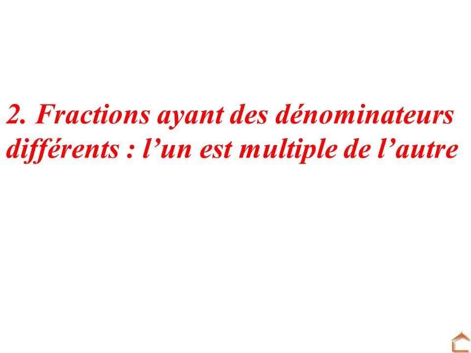 2. Fractions ayant des dénominateurs