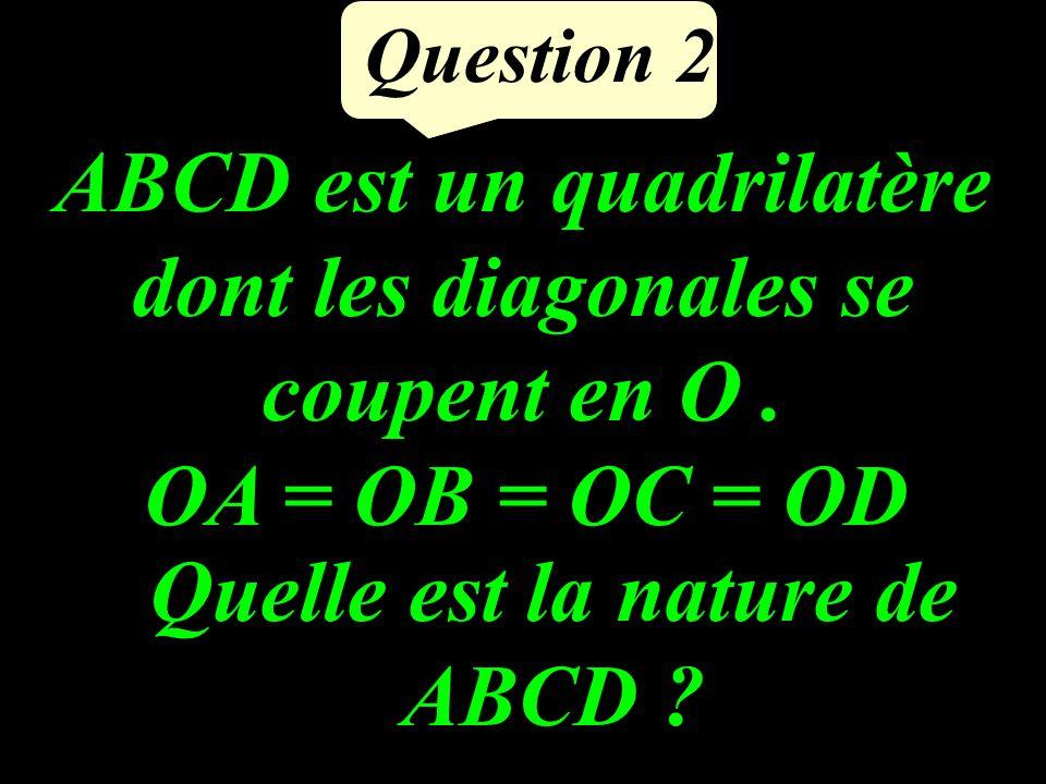 ABCD est un quadrilatère dont les diagonales se coupent en O .